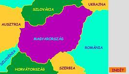 magyarország szomszédos országai térkép Környezetismeret 4. osztály magyarország szomszédos országai térkép