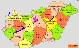 magyarország megyéi térkép vaktérkép Környezetismeret 4. osztály magyarország megyéi térkép vaktérkép